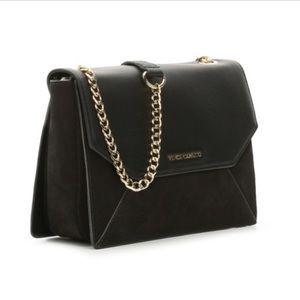 Vince Camuto Elois Leather and Suede Shoulder Bag